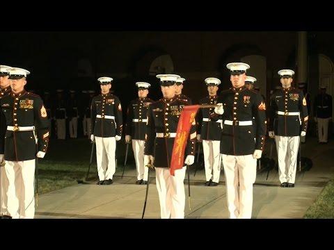 Evening Parade At Marine Barracks Washington
