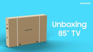 """01. How to unbox your 2020 Samsung 82"""" - 85"""" TV 
