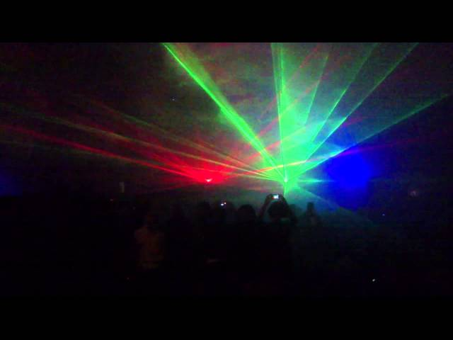 Awesome laser show - Robin Fox - MOFO - Hobart Jan 2014