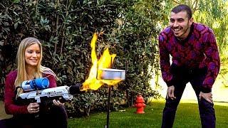 🧁🔥 Cake vs Flamethrower?!