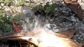 Fire from Water AQUA LENS How to start a FIRE PLASTIC WRAP 10 CENT SOLAR COLLECTOR water lens