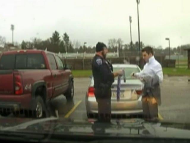 Cop Ties Necktie for Speeding College Student