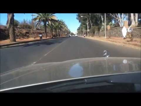 Driving in Asmera, Eritrea.