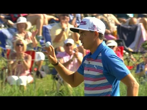 Rickie Fowler's super approach sets up eagle at THE PLAYERS