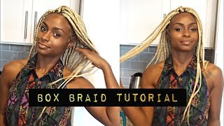 How to: Platinum Blonde Box Braid Tutorial + Tips and Tricks| Protective Style