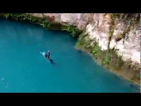 Bassin Bleu Waterfalls in Jacmel, Haiti. You have to see this!