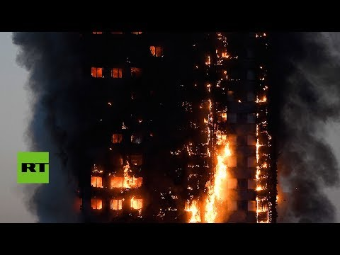 Infernal incendio en un edificio residencial en Londres