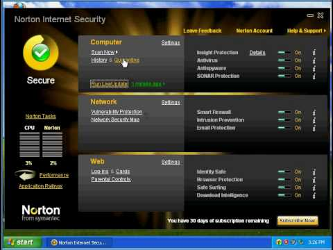 Norton Internet Security part 1
