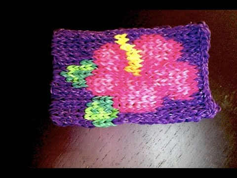 Hibiscus en elastique videolike for Mural en elastique