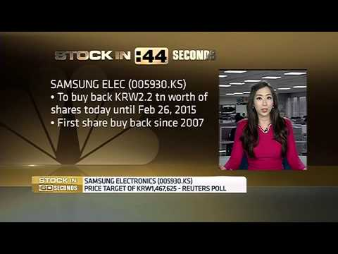 141127 CNBC ASIA - Samsung Share Buyback Stock in 60 - 삼성 자사주 매입 - 윤혜준 - June Yoon CNBC