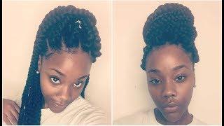 How to: Jumbo Box Braids w/ 3X Africana Freetress Braiding Hair