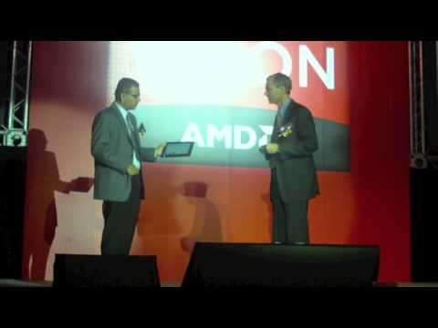 Bluestacks CEO Rosen Sharma on Stage at AMD Keynote - Computex 2011