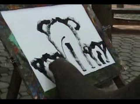 Elephant Painting Self Portrait