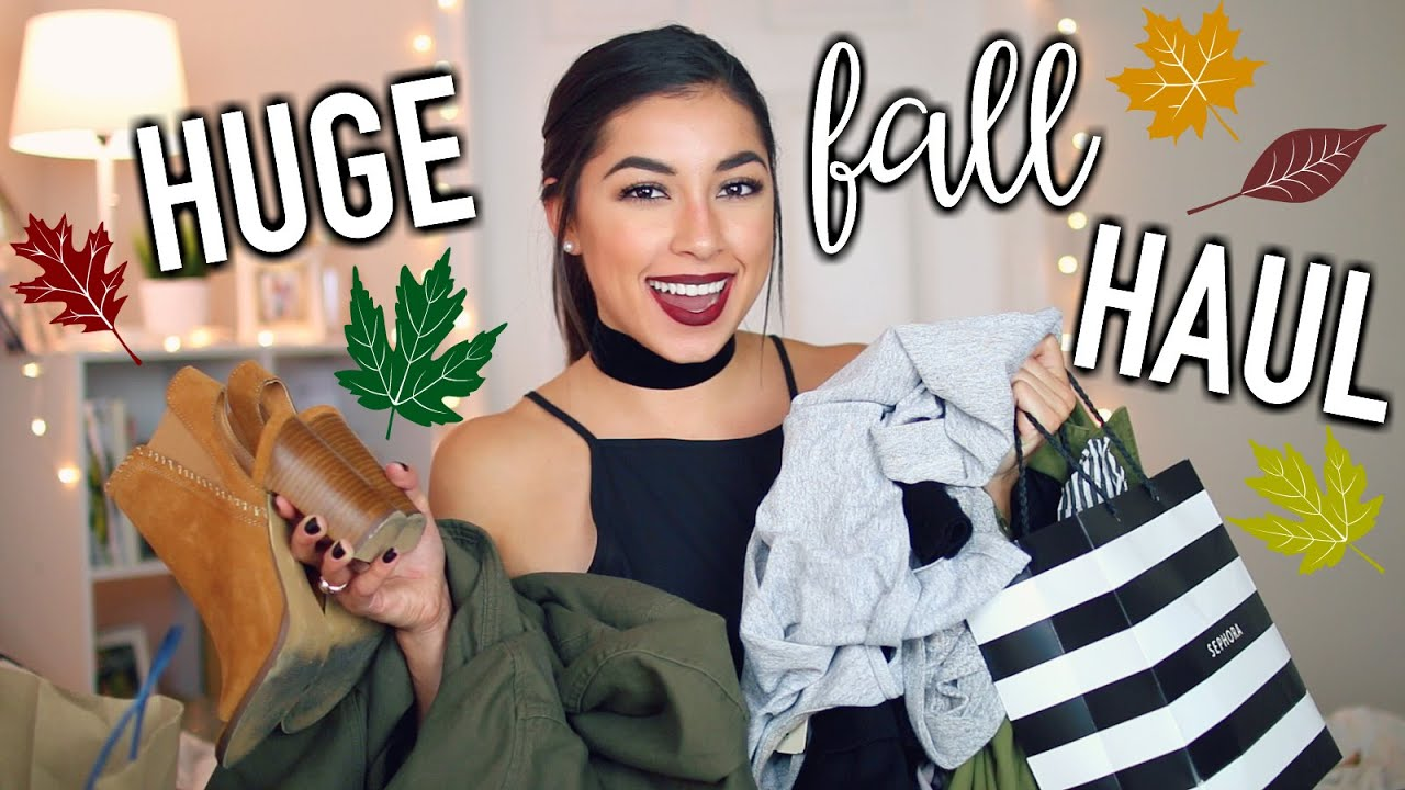 Huge Try On Fall Haul 2016! Nordstrom, Sephora, Forever 21, & Urban Outfitters!