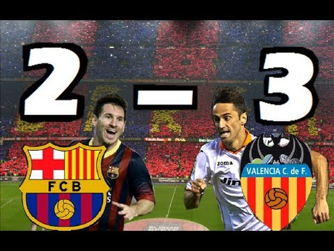Barcelona vs Valencia 2-3| TODOS LOS GOLES| Liga BBVA| 01/02/2014