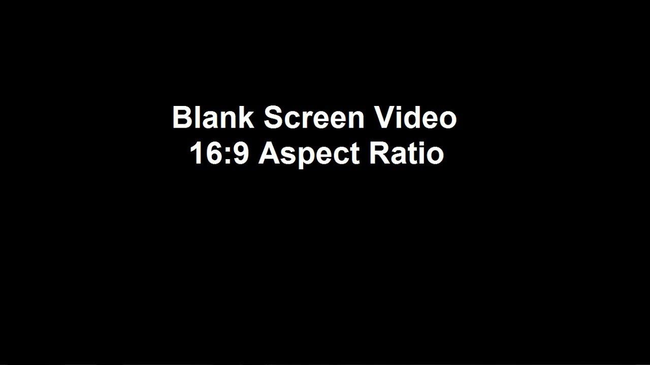 Blank 16x9 Video For Editing 30 Secs