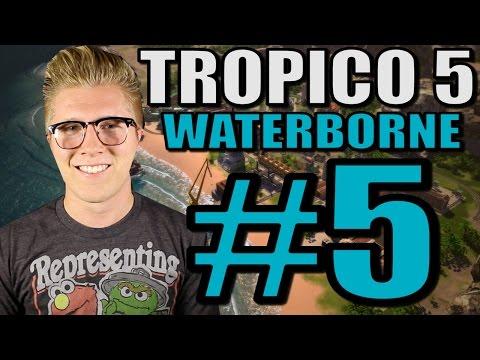 Let's Play Tropico 5: Waterborne [Gameplay] Part 5 - Barracks!