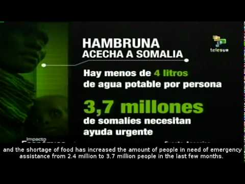 Thousands of deaths caused by starvation in Somalia