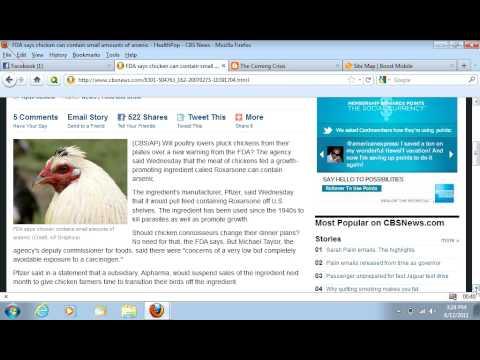 Pfizer and FDA feeding us Arsenic poison through Chicken??