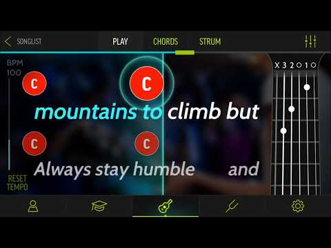 Learn to play Humble And Kind by Tim McGraw with Guitar Karaoke