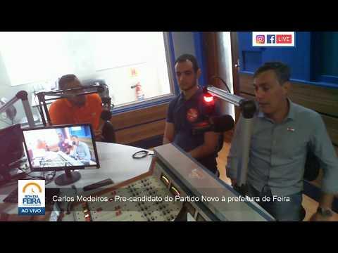 Carlos Medeiros fala sobre pré-candidatura à prefeitura de Feira pelo Partido Novo