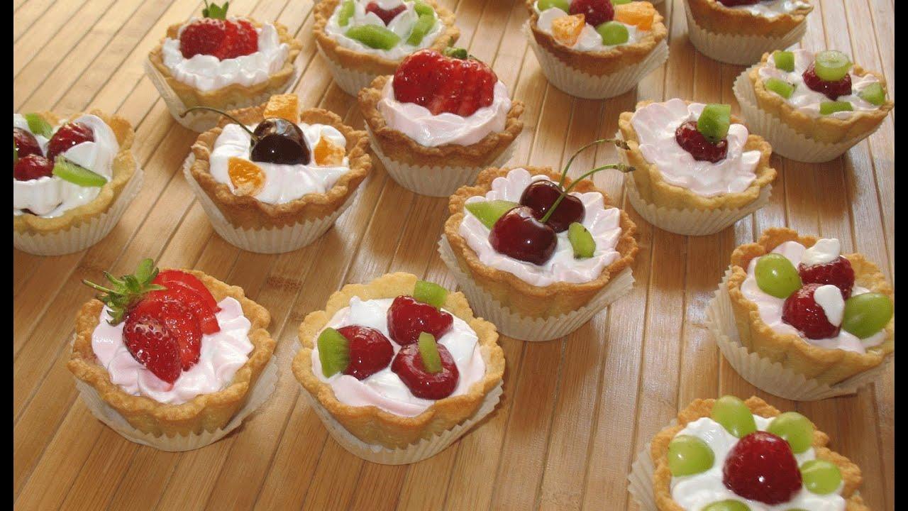 Рецепт пирожных корзиночек