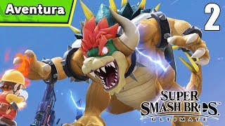 CAMINO A UNA BATALLA COLOSAL! - Aventura #2 (Modo Difícil) - Super Smash Bros ULTIMATE (SWITCH)