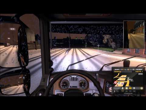 Euro Truck Simulator 2 [Multiplayer Snow Mod Review]