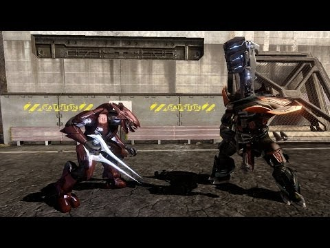 Halo 3 - AI Battle - Sword Elites vs Brute Chieftains