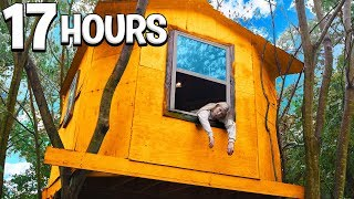 OVERNIGHT Survival Challenge in a TREE House!