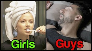 GUYS vs GIRLS Morning Routine