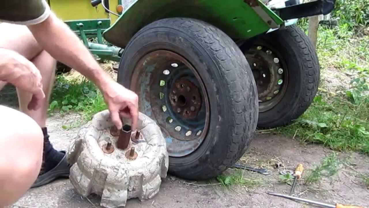 Утяжелители колес для мотоблока своими руками