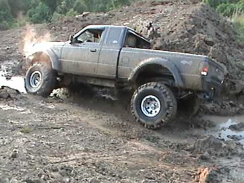1994 Ford Ranger Muddin in the Pond - YouTube