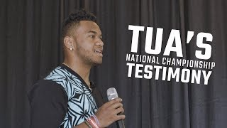 Watch Tua Tagovailoa explain the role prayer played in his National Championship performance