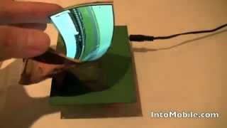 Samsung Flexible AMOLED Display at CES 2011.avi