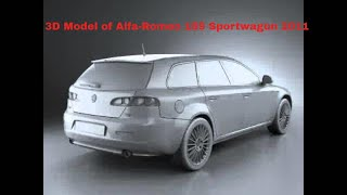 3D Model of Alfa-Romeo 159 Sportwagon 2011