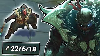 PYKE IS ACTUALLY SOOO BROKEN!! 22 KILLS LMAO THEY SAID HE WAS A SUPPORT!! - Pyke Gameplay LoL
