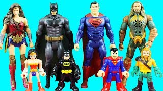 Justice League Battleground Playset Kids Toy Review + Imaginext Batman Battles Earth 1 Bane Family