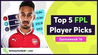 FPL Gameweek 16 | Top 5 Fix Player Picks | Fantasy Premier League 2018/19