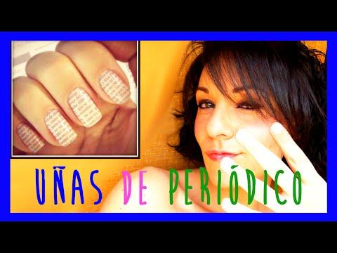 Uñas decoradas como periódico o diario, uñas originales, pintarse las uñas