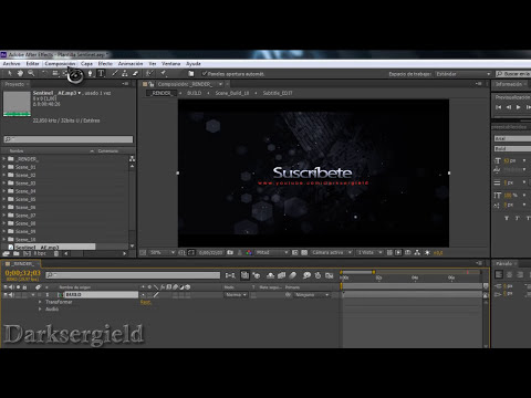 Como crear  intros espectaculares  / Editar proyectos After Effects (HD)