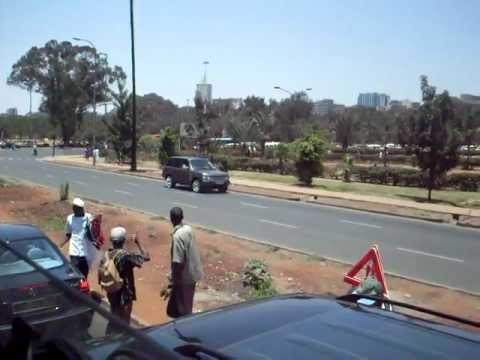 Driving (or trying to) through Nairobi