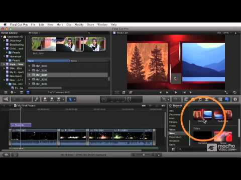 Final Cut Pro X 106: Titles Effects and Compositing - 31 Applying Theme Transitions and Titles