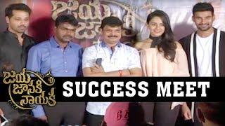 Jaya Janaki Nayaka Movie Success Meet- Boyapati Srinu, Rakul Preet Singh, Bellamkonda Srinivas
