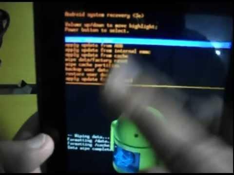 Tutorial para restaurar tablet acer . formatear tablet acer . recupera tablet acer
