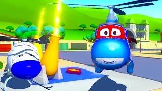Siêu xe Carl và Trực thăng ở thành phố xe   Phim hoạt hình về xe dành cho thiếu nhi