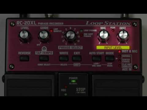 Boss RC20XL Loop Pedal demo - Nevada Music UK