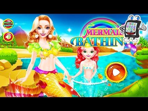 MEERJUNGFRAU BADEN App deutsch | Mermaid Mädchen + Mama umstylen + schminken | Soiel mit mir Games