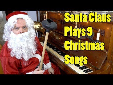 9 Christmas Songs Played by Santa Claus Vídeos de zueiras e brincadeiras: zuera, video clips, brincadeiras, pegadinhas, lançamentos, vídeos, sustos