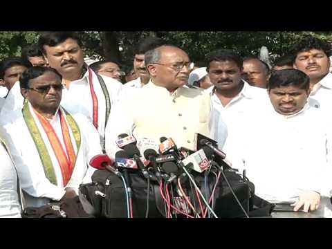 Digvijay Singh Speaks to Media on NDA Govt's Decision to Change the Name of Hyderabad Airport - 99tv
